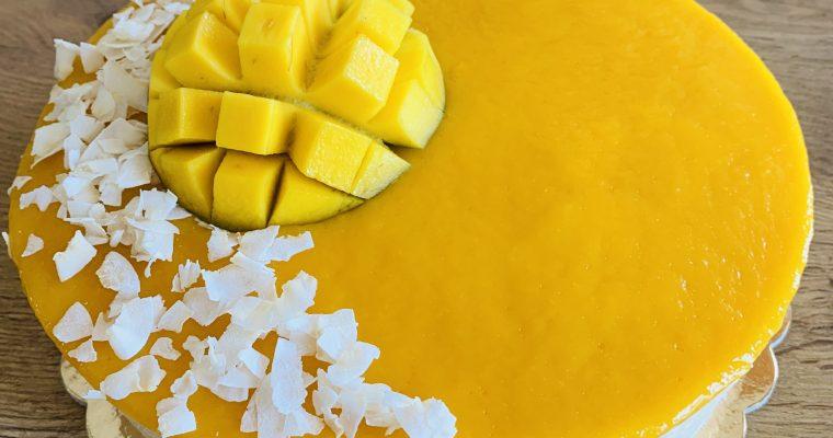 Mango-kokos torta brez glutena