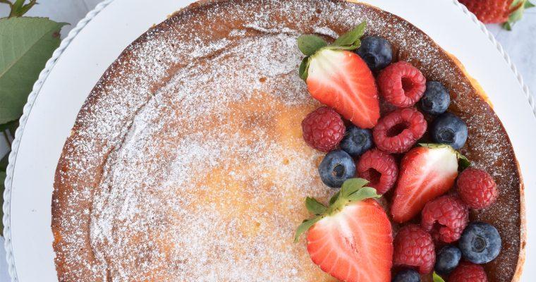Vanilijev cheesecake brez glutena