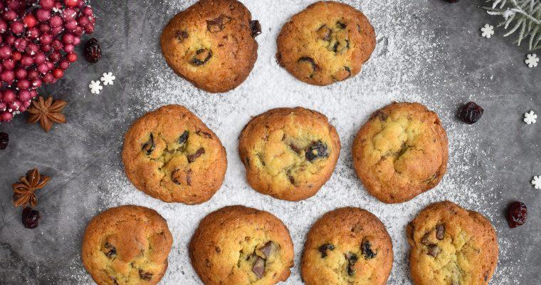 Piškoti brez glutena s čokolado in brusnicami