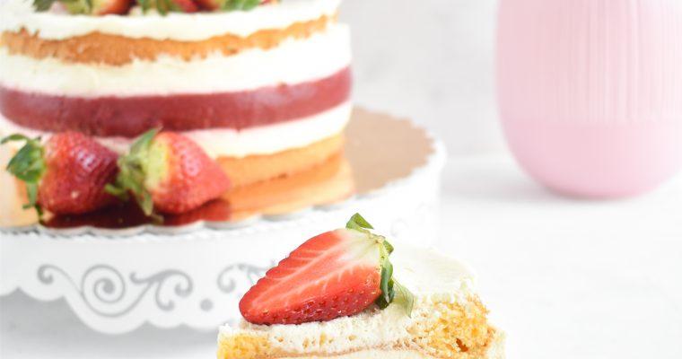 Jagodno vanilijeva torta brez glutena